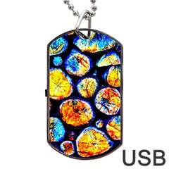 Woodpile Abstract Dog Tag Usb Flash (two Sides)  by Costasonlineshop