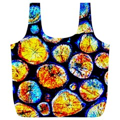 Woodpile Abstract Full Print Recycle Bags (l)  by Costasonlineshop