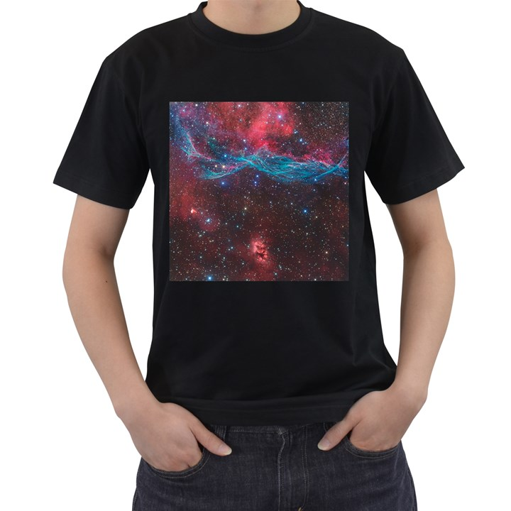 VELA SUPERNOVA Men s T-Shirt (Black) (Two Sided)