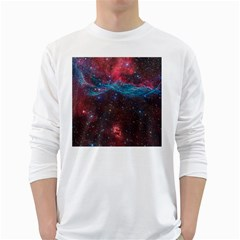 Vela Supernova White Long Sleeve T Shirts
