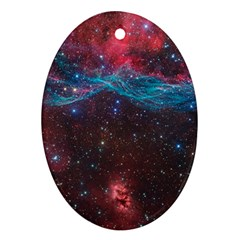 Vela Supernova Oval Ornament (two Sides)