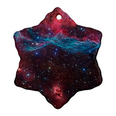 Vela Supernova Snowflake Ornament (2 Side) by trendistuff