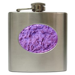 Purple Wall Background Hip Flask (6 Oz) by Costasonlineshop