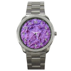 Purple Wall Background Sport Metal Watches by Costasonlineshop