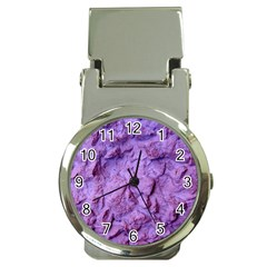 Purple Wall Background Money Clip Watches