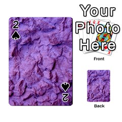 Purple Wall Background Playing Cards 54 Designs  by Costasonlineshop