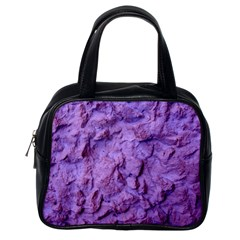 Purple Wall Background Classic Handbags (one Side) by Costasonlineshop