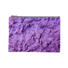 Purple Wall Background Cosmetic Bag (large)  by Costasonlineshop