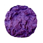 Purple Wall Background Standard 15  Premium Round Cushions Back