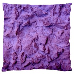 Purple Wall Background Large Flano Cushion Cases (one Side)  by Costasonlineshop