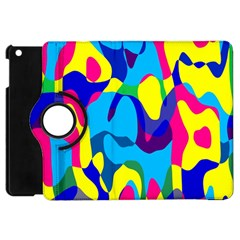 Colorful Chaos			apple Ipad Mini Flip 360 Case by LalyLauraFLM