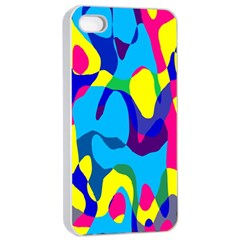 Colorful Chaos			apple Iphone 4/4s Seamless Case (white) by LalyLauraFLM