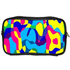Colorful Chaos Toiletries Bag (two Sides) by LalyLauraFLM