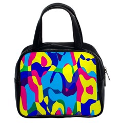 Colorful Chaos Classic Handbag (two Sides) by LalyLauraFLM
