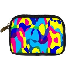 Colorful Chaos 	digital Camera Leather Case by LalyLauraFLM