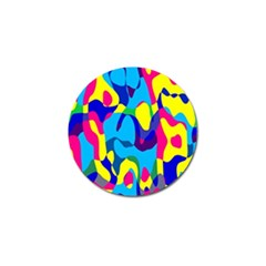 Colorful Chaos			golf Ball Marker (4 Pack) by LalyLauraFLM