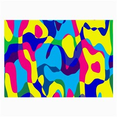 Colorful Chaos			large Glasses Cloth by LalyLauraFLM