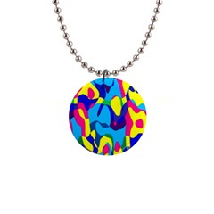 Colorful Chaos			1  Button Necklace by LalyLauraFLM
