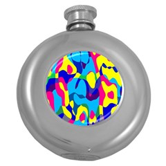 Colorful Chaos			hip Flask (5 Oz) by LalyLauraFLM