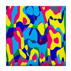 Colorful Chaos			face Towel by LalyLauraFLM