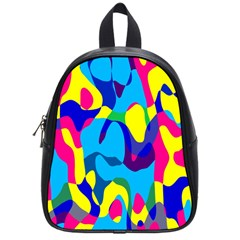 Colorful Chaos			school Bag (small) by LalyLauraFLM