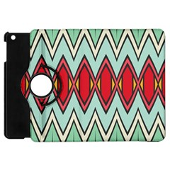 Rhombus And Chevrons Pattern			apple Ipad Mini Flip 360 Case by LalyLauraFLM