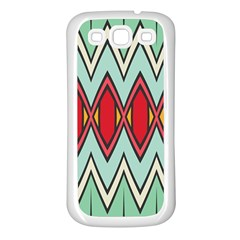 Rhombus And Chevrons Pattern			samsung Galaxy S3 Back Case (white) by LalyLauraFLM