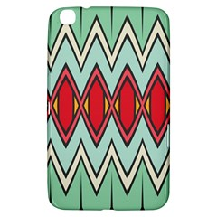 Rhombus And Chevrons Pattern			samsung Galaxy Tab 3 (8 ) T3100 Hardshell Case by LalyLauraFLM