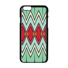 Rhombus And Chevrons Pattern			apple Iphone 6/6s Black Enamel Case by LalyLauraFLM