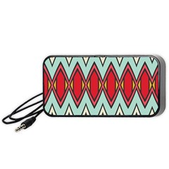 Rhombus And Chevrons Pattern Portable Speaker by LalyLauraFLM
