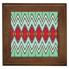 Rhombus And Chevrons Pattern			framed Tile by LalyLauraFLM