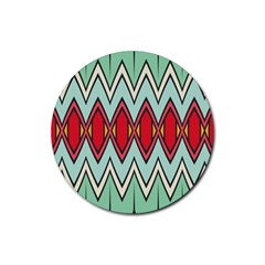Rhombus And Chevrons Pattern			rubber Round Coaster (4 Pack) by LalyLauraFLM