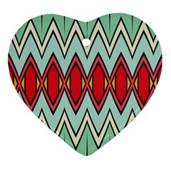 Rhombus And Chevrons Pattern			ornament (heart) by LalyLauraFLM