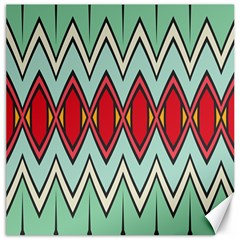 Rhombus And Chevrons Pattern			canvas 12  X 12  by LalyLauraFLM
