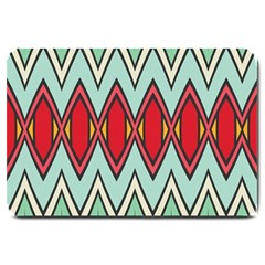 Rhombus And Chevrons Pattern			large Doormat by LalyLauraFLM
