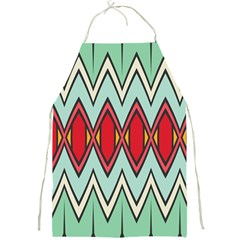 Rhombus And Chevrons Pattern			full Print Apron by LalyLauraFLM