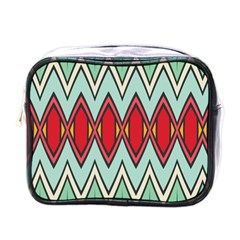Rhombus And Chevrons Pattern			mini Toiletries Bag (one Side) by LalyLauraFLM