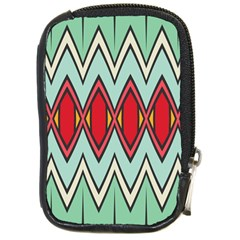 Rhombus And Chevrons Pattern			compact Camera Leather Case by LalyLauraFLM