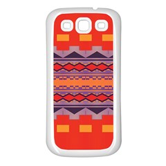Rhombus Rectangles And Triangles			samsung Galaxy S3 Back Case (white) by LalyLauraFLM