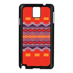 Rhombus Rectangles And Triangles			samsung Galaxy Note 3 N9005 Case (black) by LalyLauraFLM