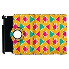 Colorful Stars Pattern			apple Ipad 2 Flip 360 Case by LalyLauraFLM