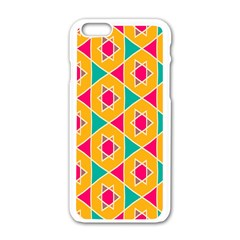 Colorful Stars Pattern			apple Iphone 6/6s White Enamel Case by LalyLauraFLM