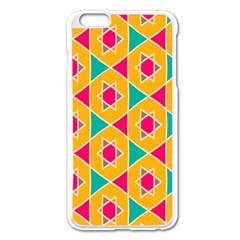 Colorful Stars Pattern			apple Iphone 6 Plus/6s Plus Enamel White Case by LalyLauraFLM