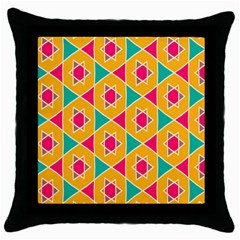 Colorful Stars Pattern			throw Pillow Case (black) by LalyLauraFLM