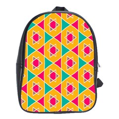Colorful Stars Pattern			school Bag (large) by LalyLauraFLM