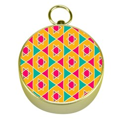 Colorful Stars Pattern			gold Compass by LalyLauraFLM