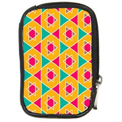Colorful Stars Pattern			compact Camera Leather Case by LalyLauraFLM