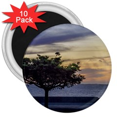 Sunset Scene At Boardwalk In Montevideo Uruguay 3  Magnets (10 Pack)  by dflcprints