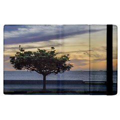 Sunset Scene At Boardwalk In Montevideo Uruguay Apple Ipad 2 Flip Case by dflcprints