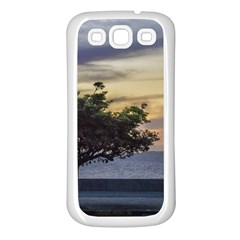 Sunset Scene At Boardwalk In Montevideo Uruguay Samsung Galaxy S3 Back Case (white) by dflcprints